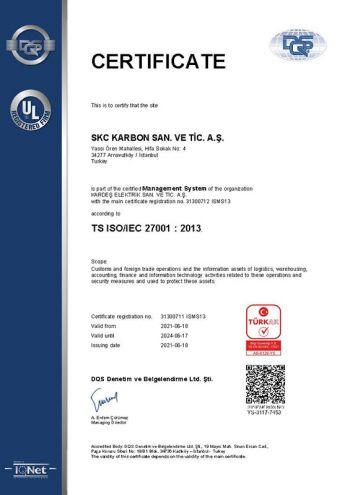 SKC KARBON ISO 9001:2008 UKAS