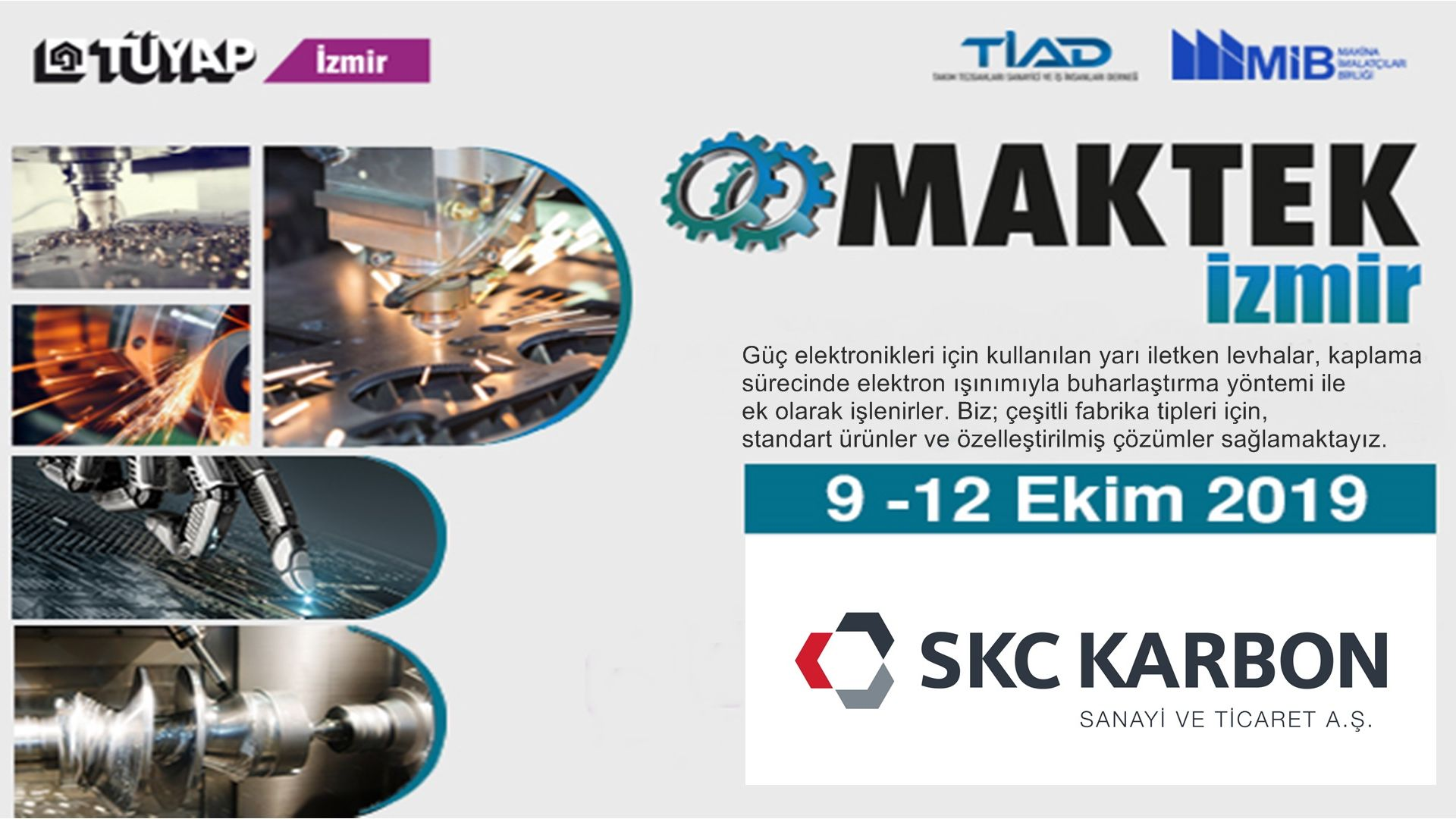 SKC will meet with the machinery sector at Maktek Izmir Fair